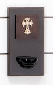 Pia p/ água benta Santidade - Cruz Dourada