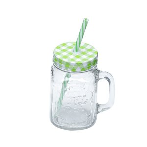 Caneca c/ tampa Party verde 425ml