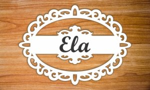 Placa oval Ela