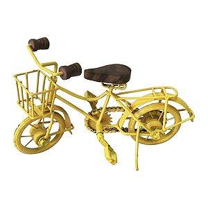 Bicicleta Decorativa Amarela III