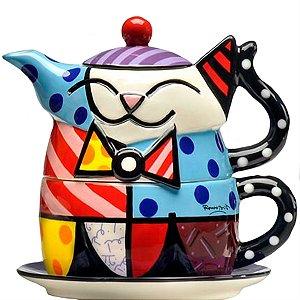 Bule de Chá Gato - Romero Britto