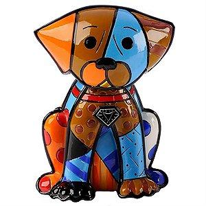 Escultura Cachorro Boxer - Romero Britto