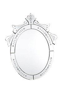 Espelho Veneziano Bisotado Oval