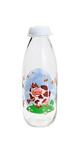 Garrafa p/ Leite Happy Cow Transparente 1l