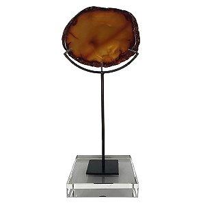Pedra Natural Decorativa Ágata Marrom