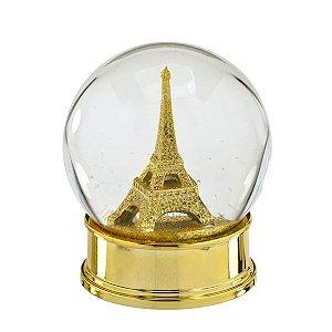 Globo de Água Paris Dourado
