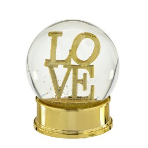 Globo de Água Love Dourado