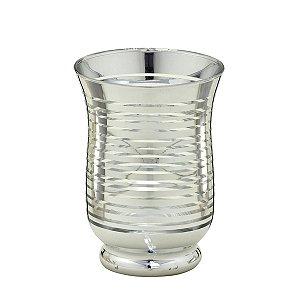 Vaso de Vidro Prata 14,5cm