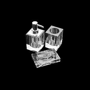 Conjunto p/ Banheiro Cristal - 3 peças