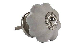 Puxador p/ Porta Cerâmica Cinza