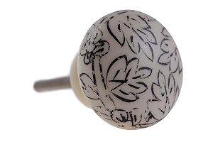 Puxador p/ Porta Cerâmica/Acrílico