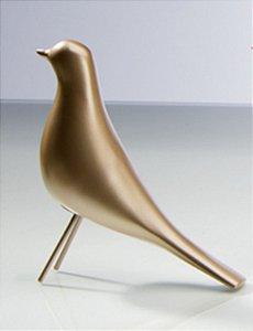 Pássaro Decorativo Cardeal - Dourado