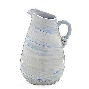 Jarra Decorativa Cinza c/ Azul