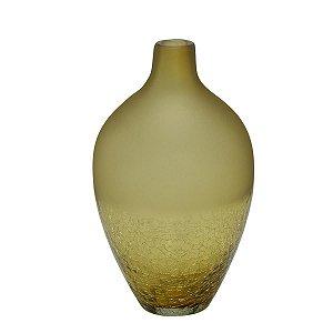 Vaso Decorativo Vidro Âmbar 28cm