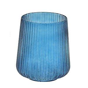 Vaso Vidro Azul 18cm