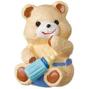 Puxador Urso Mamadeira Azul
