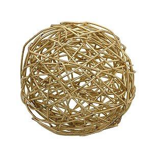 Bola Dourada Decorativa 12cm