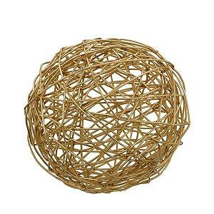 Bola Dourada Decorativa 18cm