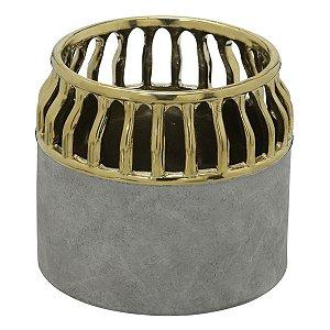 Vaso Cinza c/ Dourado I