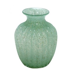 Vaso Decorativo Verde c/ Dourado