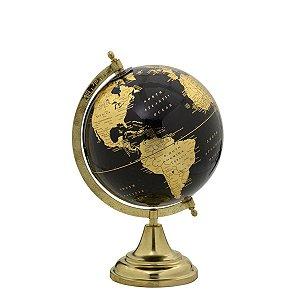 Globo Decorativo Dourado e Preto 32cm