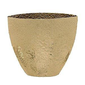 Vaso Decorativo Metal Dourado 36cm