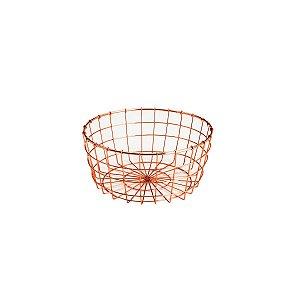 Fruteira Ferro Cromado Rosé 22cm