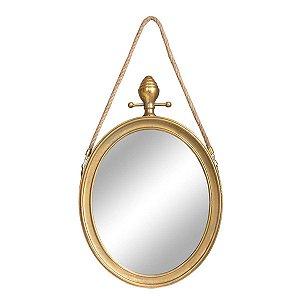 Espelho Basel Dourado P