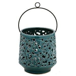 Vaso Decorativo Azul c/ Alça