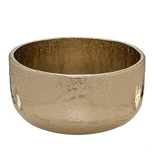 Cachepot Decorativo Metal Dourado 33cm