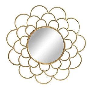 Espelho Rosette Dourado