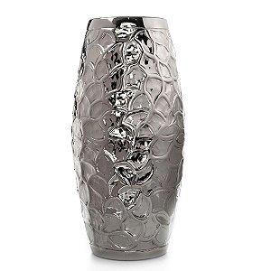 Vaso Alumínio Prata Decorativo