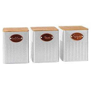 Conjunto 3 Potes Branco BTC