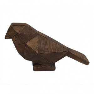 Pássaro Decorativo Marrom BTC