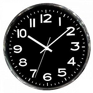 Relógio de Parede Prata 25cm BTC