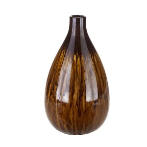 Vaso Decorativo Marrom 33cm Concepts