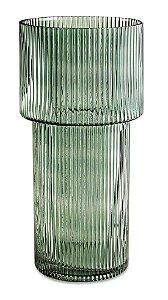 Vaso em Vidro Verde 30cm Mart