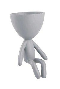 Vaso Decorativo Cinza D Mart