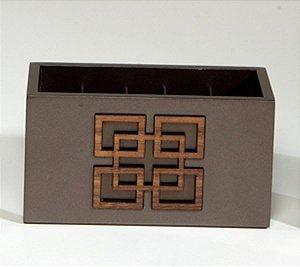 Porta Controles Paola Marrom Bronze Limoeiro