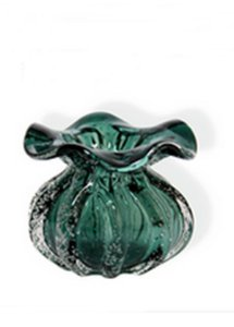 Vaso Murano Italy Verde Esmeralda 11cm Lyor