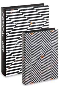 Kit Livro Caixa Optical Art 2 peças Mart