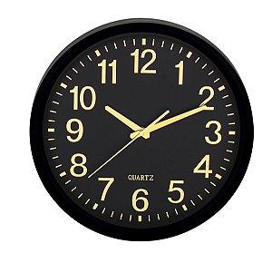 Relógio de Parede Preto e Dourado Mart