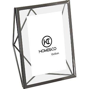 Porta Retrato Alumínio Preto 10x15cm GS
