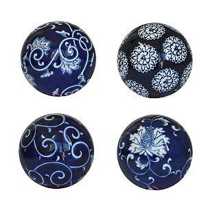 Conjunto 4 Bolas Decorativas Azul Ultramarine