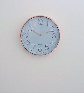 Relógio de Parede Rose Gold 30cm Mart
