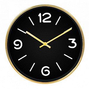 Relógio de Parede Dourado e Preto BTC