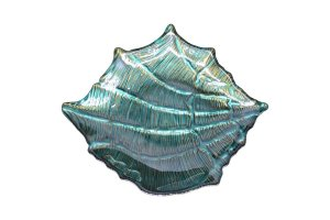Concha Ibiza Decorativa Azul c/ Ouro Vylux