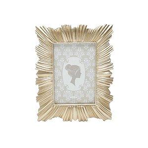Porta Retrato Resina Dourado 10x15cm Rojemac