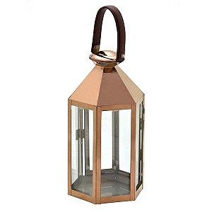 Lanterna Decorativa Cobre 30cm Mabruk