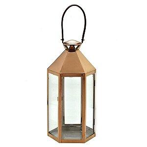 Lanterna Decorativa Cobre 40cm Mabruk